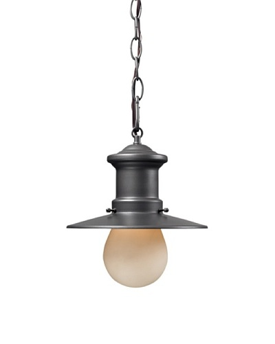 Artistic Lighting Maritime 1 Light 10 Outdoor Pendant, Graphite