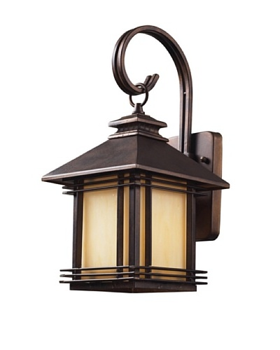 "Artistic Lighting Blackwell 1 Light 16"" Outdoor Sconce, Hazelnut Bronze"
