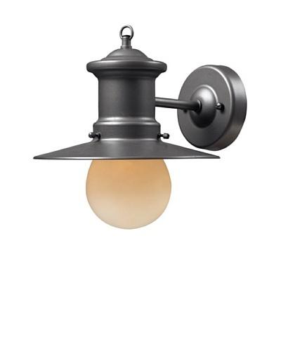 "Artistic Lighting Maritime 1 Light 10"" Outdoor Sconce, Graphite"