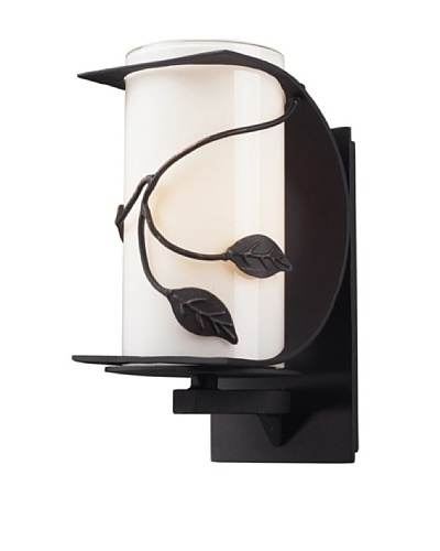 Artistic Lighting Hedera 1 Light 11 Outdoor Sconce, Weathered Charcoal
