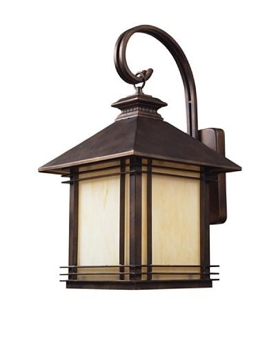 "Artistic Lighting Blackwell 1 Light 22"" Outdoor Sconce, Hazelnut Bronze"