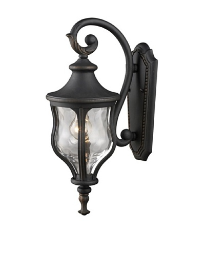 """Artistic Lighting Grand Aisle 1 Light 23"""" Outdoor Sconce, Weathered Charcoal"""
