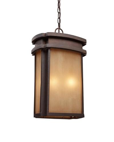 "Artistic Lighting Sedona 2 Light 18"" Outdoor Pendant, Clay Bronze"
