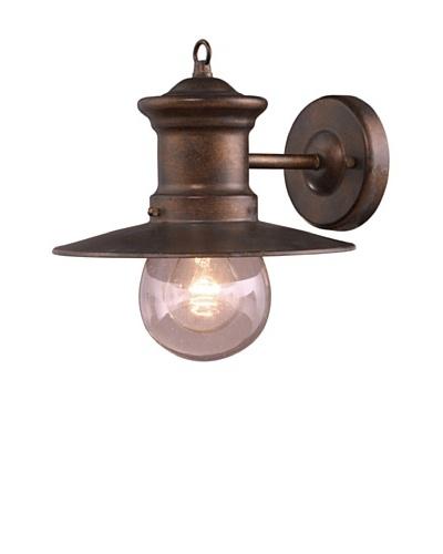Artistic Lighting Maritime 1 Light 10 Outdoor Sconce, Hazelnut Bronze