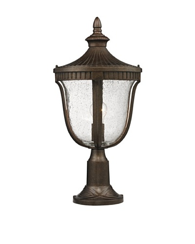 Elk Lighting 27003/1 Worthington One Light Outdoor Post Light, Weathered Rust