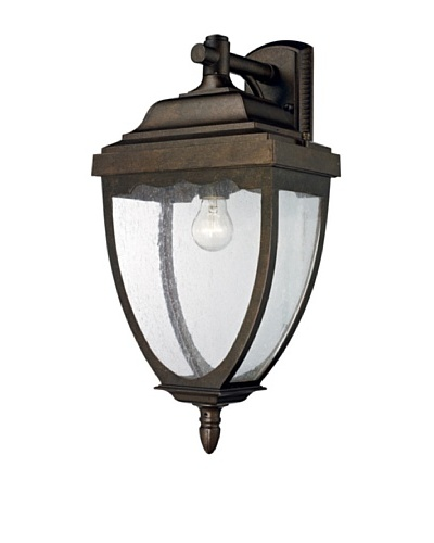 Artistic Lighting Brantley Place 1 Light 23 Outdoor Sconce, Weathered Rust