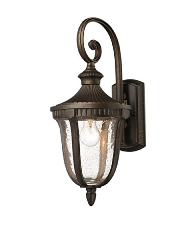 Elk Lighting 27000/1 Worthington One Light Outdoor Sconce, Weathered RustAs You See