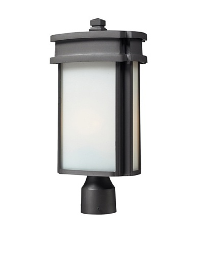 Artistic Lighting Sedona 1 Light 10 Outdoor Post Light, Graphite