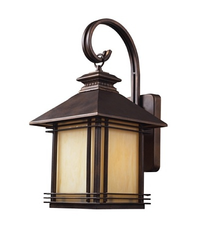 "Artistic Lighting Blackwell 1 Light 19"" Outdoor Sconce, Hazelnut Bronze"