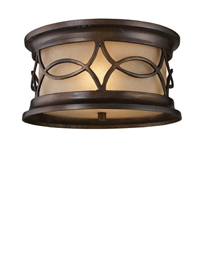 Artistic Lighting Burlington Junction 2 Light 6 Outdoor Flushmount, Hazelnut Bronze