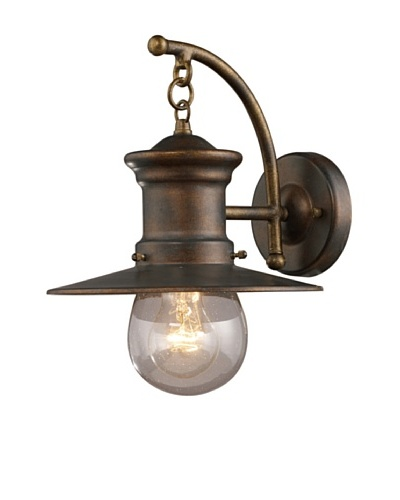 Artistic Lighting Maritime 1 Light 12 Outdoor Sconce, Hazelnut Bronze