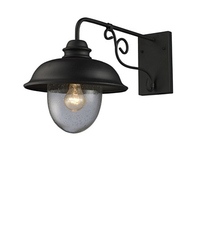 Artistic Lighting Streetside Café 1 Light 14 Outdoor Sconce, Matte Black