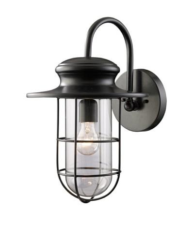 Artistic Lighting Portside 1 Light 18 Outdoor Sconce, Matte Black