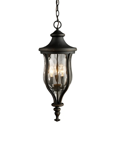 Artistic Lighting Grand Aisle 3 Light 24 Outdoor Pendant, Weathered Charcoal