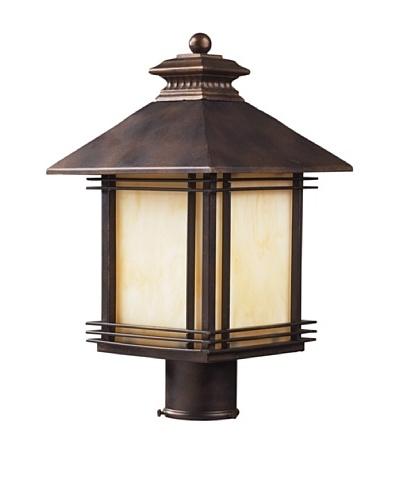 Artistic Lighting Blackwell 1 Light 18 Outdoor Post Light, Hazelnut Bronze