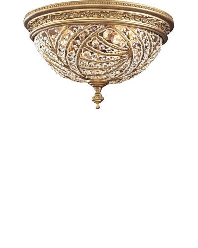 Artistic Lighting Renaissance 2-Light Flush-Mount Ceiling Fixture, Dark Bronze