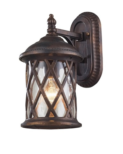 "Artistic Lighting Barrington Gate 1 Light 13"" Outdoor Sconce, Hazelnut Bronze"