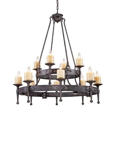 Artistic Lighting Cambridge 8+4+4-Light Chandelier In Moonlit Rust