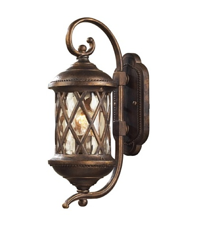 Artistic Lighting Barrington Gate 1 Light 18 Outdoor Sconce, Hazelnut Bronze