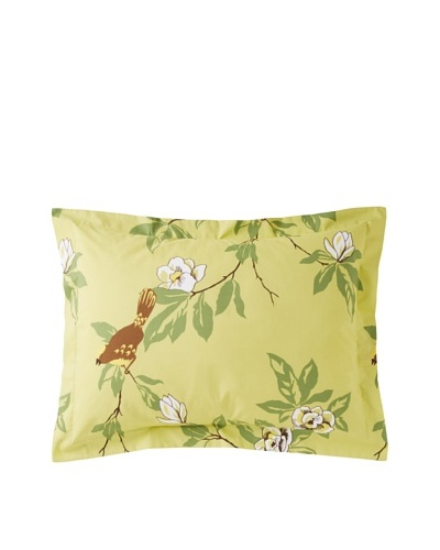 Elsie Green Happy Bird Standard Sham, Green