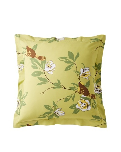 Elsie Green Happy Bird Euro Sham, Green