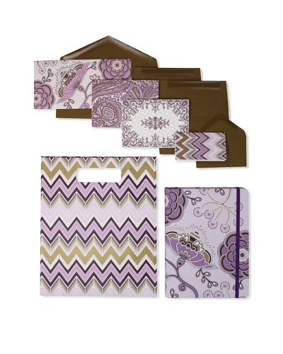 Elum Crewel Embroidery-Collection Set, Purple/Brown