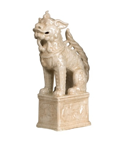 Emissary Ceramic Guardian Lion on Base
