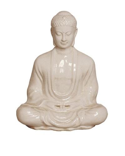 Emissary Meditating Buddha, White
