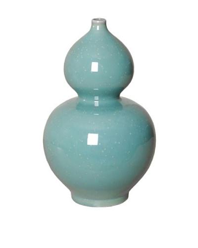 Emissary Gourd Vase, Lagoon Speckle