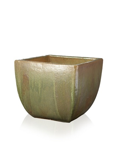 Emissary Square Tapered Pot [Brown/Moss]