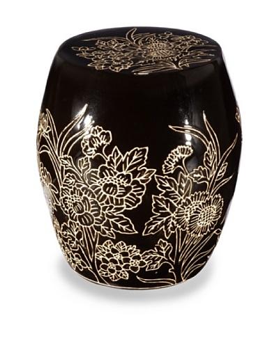 Emissary Flower Design Stool/Table [Black]