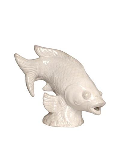 Emissary Garden Big Fish Garden Sculpture [White]