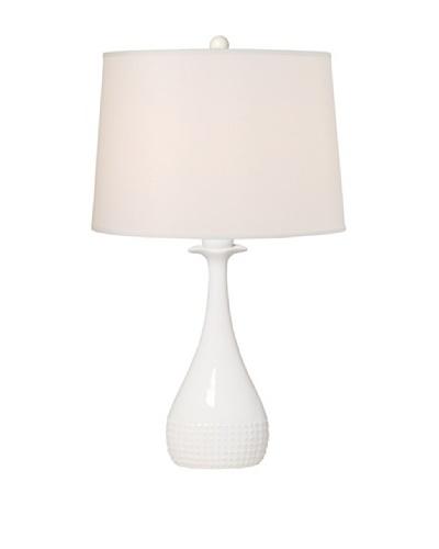 Emissary Lighting Ball-Top Vase Lamp, White