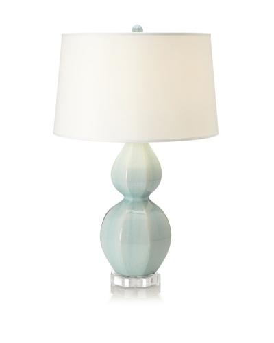 Emissary Lighting Octagon Gourd Lamp, Light Blue