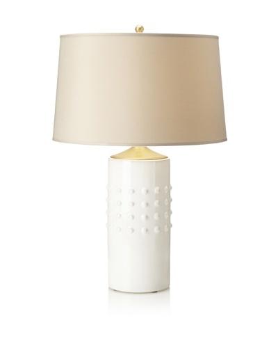 Emissary Lighting Studded Round Vase Table Lamp [White]