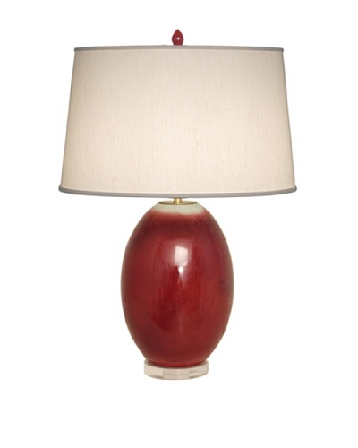 Emissary Lighting Egg Vase Lamp, Red