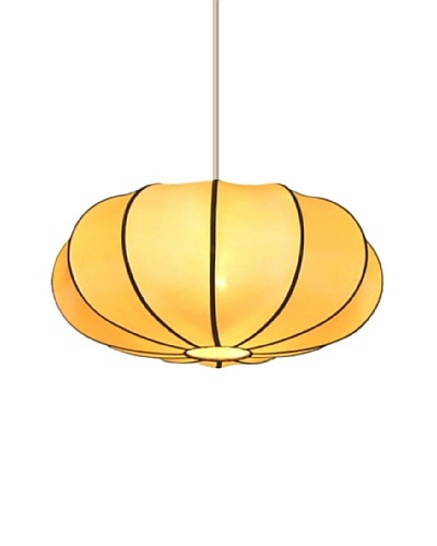 Emissary Lighting Pumpkin Pendant Lamp, Orange Cream