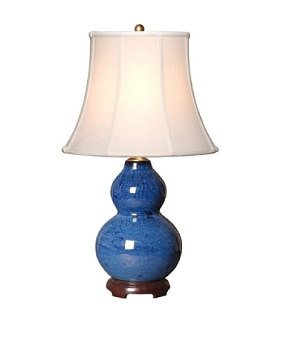 Emissary Lighting Gourd Vase Lamp, Cobalt