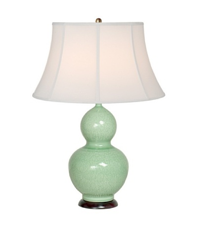 Emissary Lighting Engraved Gourd Lamp, Jade