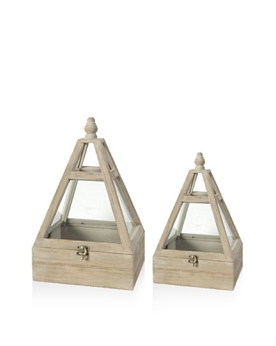 Set of 2 Green Houses