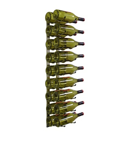 Epicureanist Metal Wall-Mount 18-Bottle Wine Rack, Nickel