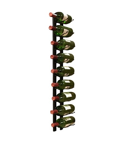 Vinotemp Metal Wall-Mount 9-Bottle Wine Rack, Black