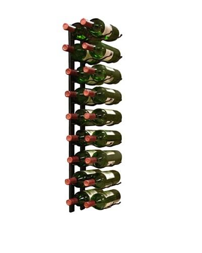 Vinotemp Metal Wall-Mount 18-Bottle Wine Rack, Black