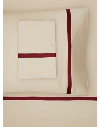 Errebicasa Egadi Sheet Set [Taupe/Wine]