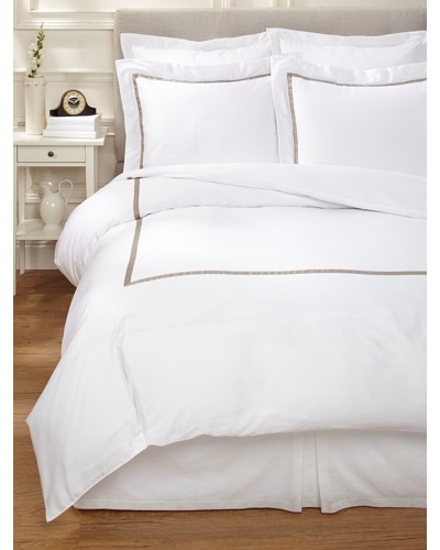 Errebicasa Egadi Duvet Cover Set [White/Khaki]
