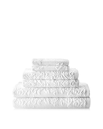 Espalma Brocade 6-Piece Towel Set, White