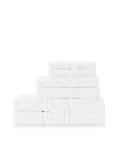 Espalma Greek Key 6-Piece Towel Set, WhiteAs You See