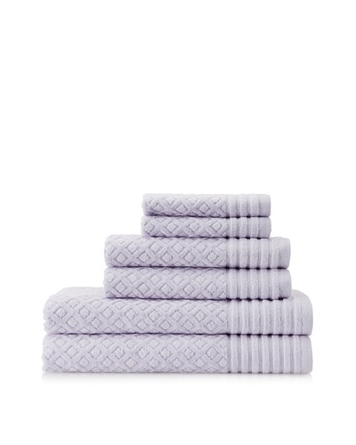 Espalma Diamonds 6-Piece Towel Set, Lavender