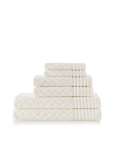 Espalma Diamonds 6-Piece Towel Set, Ivory