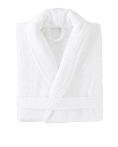 Espalma Shawl-Collar Kimono Signature Robe [White]